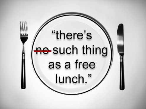 there is no such thing as a free lunch